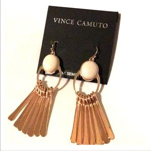 Vince Camuto Rose Gold Long Earrings